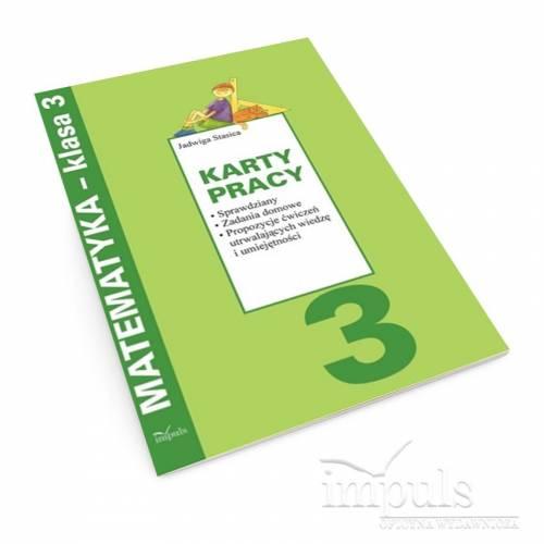 produkt - Karty pracybr /Matematyka - klasa 3