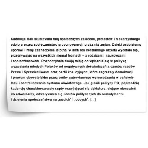 produkt - DIAGNOZA USPOŁECZNIENIA PUBLICZNEGO SZKOLNICTWA III RP W GORSECIE CENTRALIZMU