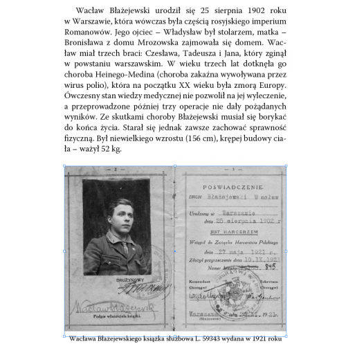 produkt - Życie na przekór Wacław Błażejewski 1902–1986