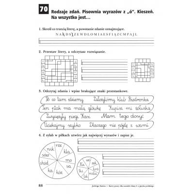 Karty pracy Język polski - klasa 1