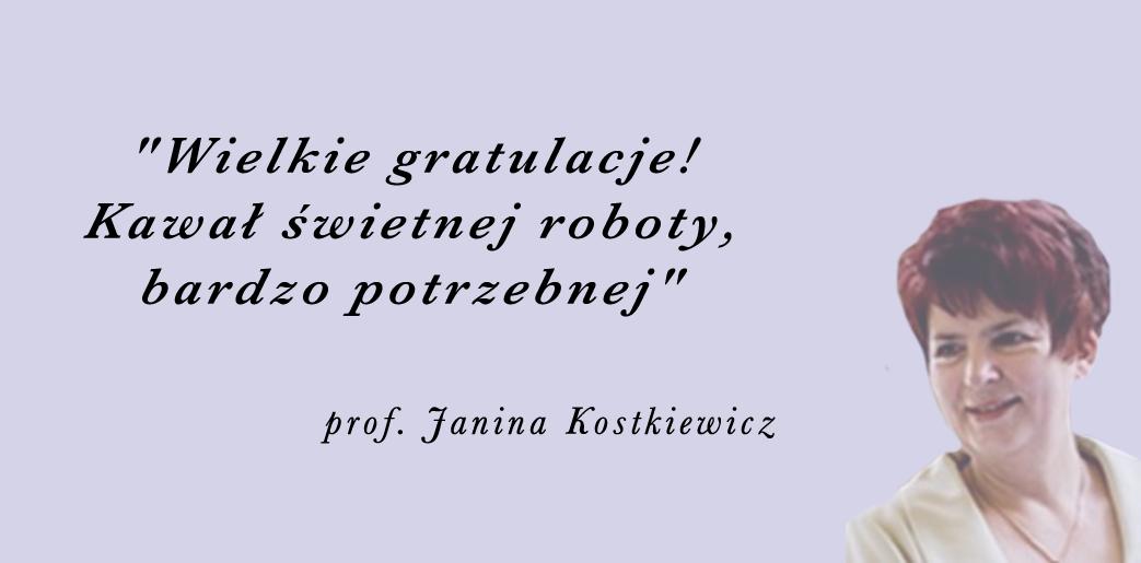 prof. Janina Kostkiewicz