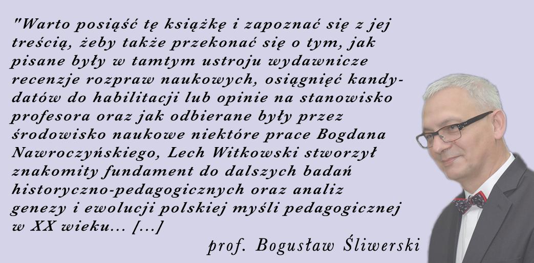 prof. Bogusław Śliwerski
